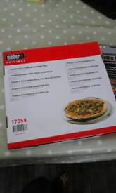 Round pizza stone for your BBQ brand new