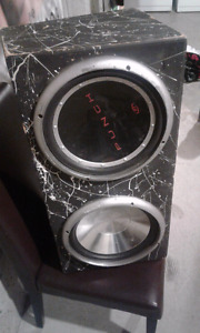 """DUEL 12"""" SUBS WITH 800W PIONEER AMP"""