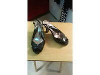black evans size 8 wide (fit a size 9) shoes