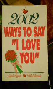 """2002 WAYS TO SAY """"I LOVE YOU"""""""