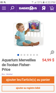 Aquarium lit de bébé Fisher Price