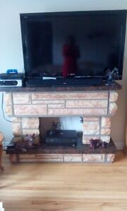 Fireplace/TV Stand/Storage Unit in One