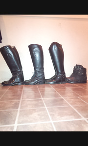 4 pairs of womens riding boots in great condition
