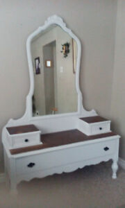 Beautiful restored vintage dresser with mirror.