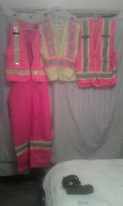 hi visual vest and coveralls