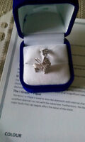 Gorgeous gift. Sterling silver baby carriage with diamonds