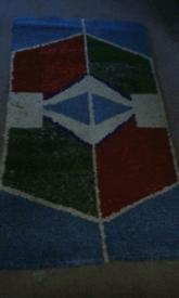 Hand made wool rug