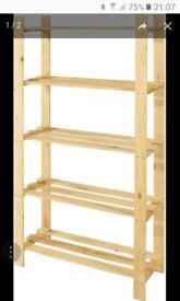wooden shelf unit £10.00
