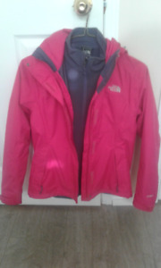 Women's North Face 3-in-1 Jacket - Small Size - Pink and Gray