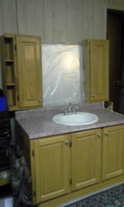 Bathroom Vanity, Upper Cabinets and Over the Toilet Cabinet