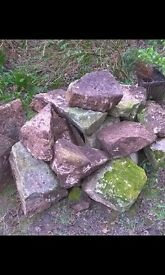 Rockery stones and natural stone slabs