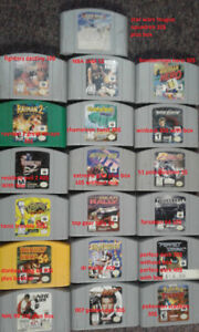 N64 Games for sale and console