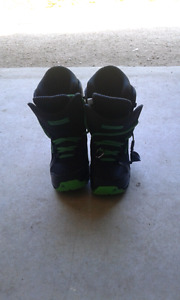 Kids size 3 snowboard boots for sale.