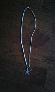 Silver Starfish Necklace from Greece