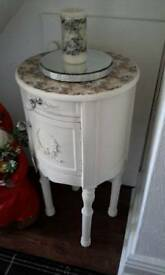 Bedside table clotted cream colour.