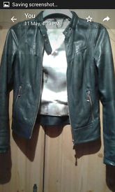Ted Baker Leather Jacket Size 1