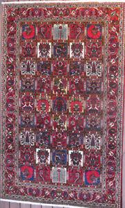 """Hand Made Persian Bakhtiar Garden Carpet, Fine,  8'4"""" x 5'2"""""""