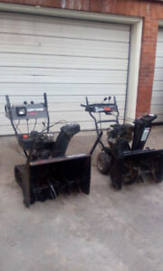 Snowblowers - Trade for Lawn Tractor plus $$