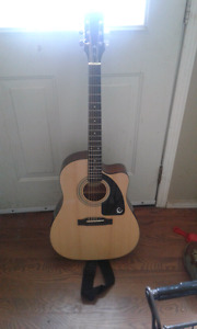 $100.00 (OBO) Like new Epiphone accoustic guitar