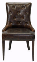LEATHER n FABRIC DINNING ROOM CHAIR KITCHEN CHAIRS