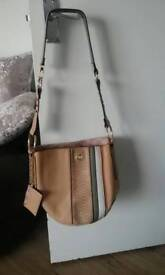 Leather and swayed bag