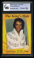 Elvis Presley LE Card with Authentic Piece of Hair (GAI 10)