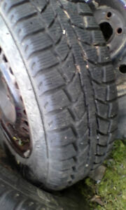 Two Winter Uniroyal tires
