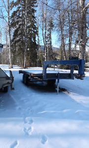 Reduced 18ft flat deck trailer