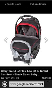 baby trend infant car seat almost new with extras