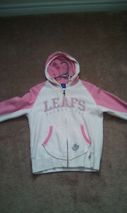 Maple leafs pink and white hoodie