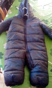 6-12 boys snowsuit and size 4 boots