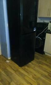 Beko fridge freezer in black