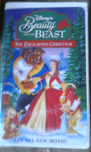 Beauty and the beast the Enchanted Christmas VHS