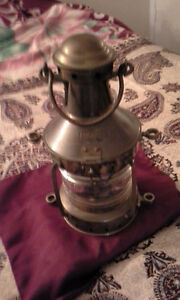 ANTIQUE ANCHOR FISH OIL BOAT LANTERN