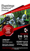 Medieval Festival - Hastings, Labour Day Weekend