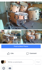 Yamaha Rockstar 5 piece Drum kit. comes with cymbol stands and hard flight cases