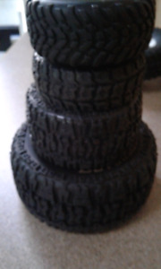 4 sets of Rc truck tires