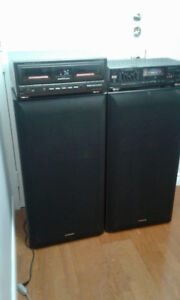 Pioneer 15''Speakers +Technics 110 CD Changer + Fisher Amplifier