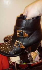 Studded boots size 6