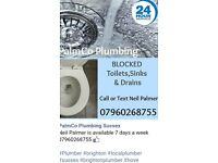 Blocked sink or toilet call Neil 07960268755 available 7 DAYS EVENINGS & WEEKENDS, FREE QUOTE