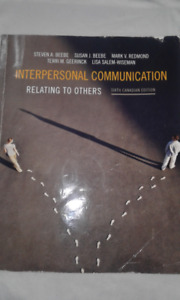 Interpersonal Communication 6th Canadian Edition