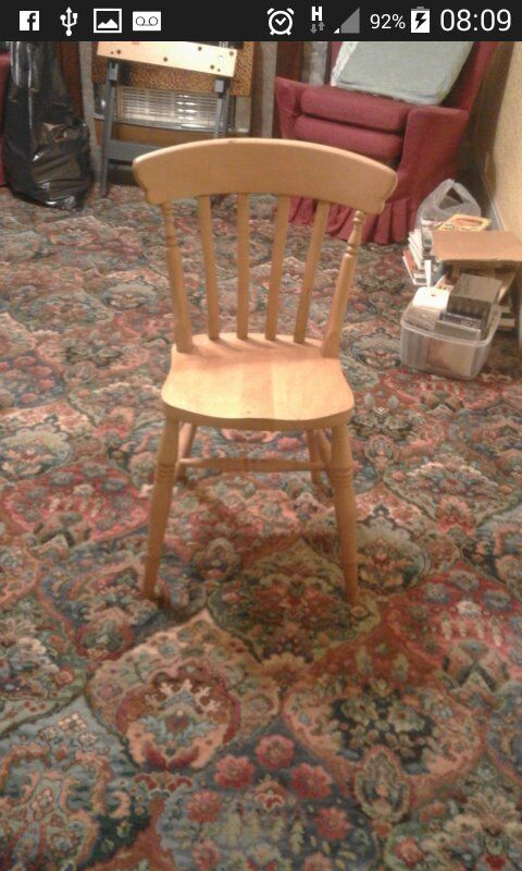 For sale 4 x Traditional pine dining room chairs