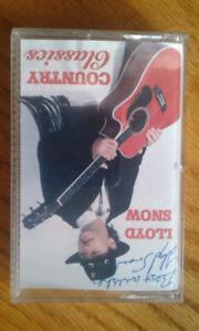 Loyd snow Autographed cassette
