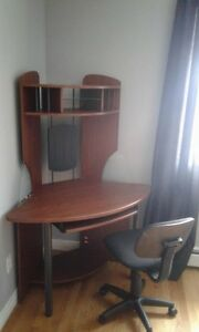 Student corner work desks and bedroom set
