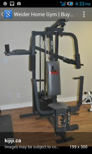 Gently used home gym