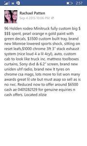 Holden rodeo mini truck Zilzie Yeppoon Area Preview