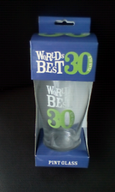 30th BIRTHDAY NEW/UNOPENED PINT GLASS