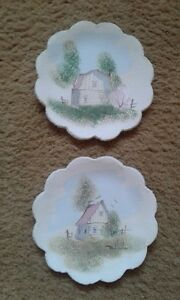 Ceramic Pastel Hand Painted Wall Plates