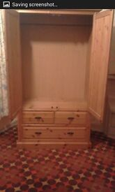 For sale Pine wardrobe with two drawers. Excellent condition
