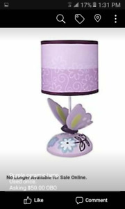 Lamp and Ivy Butterfly Lamp